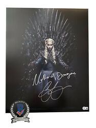 Emilia Clarke Signed And039game Of Thronesand039 Autograph 16x20 Photo Beckett Bas Got 14