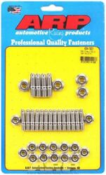 Arp 434-1901 Sbc Chevy Stainless Hex Oil Pan Stud Kit Small Block Chevy Studs 6
