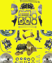 Gm Front And Rear Disc Brake Kit 10 12 Bolt A F X Body Conversion Brakes Ds Sr Wb