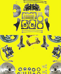 Gm Front And Rear Disc Brake Kit 10 12 Bolt A F X Body Conversion Brakes Ds And Sr