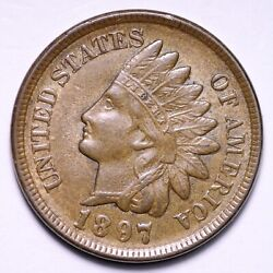 1897 Indian Head Cent Penny Choice Unc Free Shipping E830 Ghf