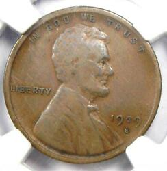 1909-s Vdb Lincoln Wheat Cent 1c Penny - Certified Ngc Vf25 - Rare Key Date Coin