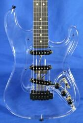 All Music Inc Usa Private Collection 14 Acrylic Clear Strat Electric Guitar