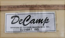 Decamp Vintage Travel Trailer Black And White Reproduction Decal 10 Set 2