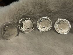 Lot Of 4 - 1 Oz Silver Rounds .999 Money Metals Exchange American Eagle