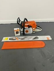 Stihl Ms441c Magnum Powered Gas Chainsaw W/ Brand New 25 Bar And Chain
