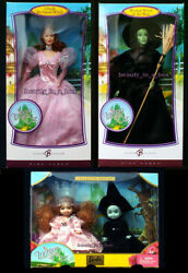 Wicked Witch Of The West Barbie Doll Glinda Kelly Wizard Of Oz Pink Lot 4