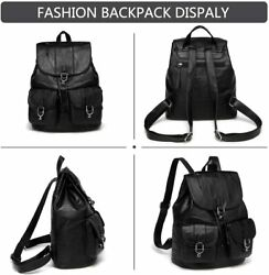 Mini Backpack Purse for WomenVASCHY Fashion Faux Leather Buckle FlapDrawstring $63.24