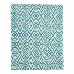 Feizy Sattika 8and0396 X 11and0396 Hand Knot Viscose Fabric Area Rug In Scuba Blue
