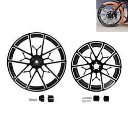 21/23/26/30 Front And 18and039and039 Rear Wheel Rim Hub Fit For Harley Touring 2008-2021
