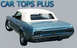 1967-1968 Ford Mustang Convertible Top And Folding Glass, Ford White Vinyl
