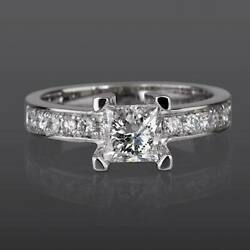 1 1/2 Carat Si Real Diamond Engagement Ring W Accents Size 5.5 6 6.25 6.5