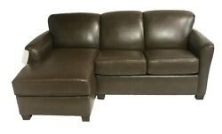 82 La-z-boy Rv Camper Sectional Chaise Couch Hide A Bed Coleman Bark Lazy Boy