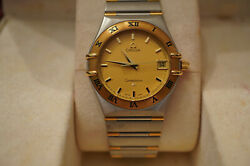 Omega Constellation 1312.10 Mens Watch Ss 18k With Box And Paperwork One Owner
