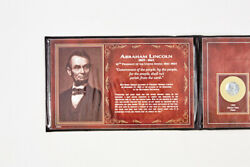 Abraham Lincoln Coin And Stamp Set - 1943 Steel Cent And 1958 Wheat Cent 1c