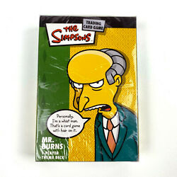 New Sealed The Simpsons Trading Card Game Mr. Burns 1 Player Theme Deck Wotc