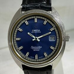 Omega Seamaster Cosmic 2000 Automatic 166.130 Date Vintage Menand039s Watch Wl34209