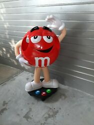 New In Box Mandm Red Character Candy Store Display 41