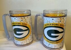 Green Bay Packers Thermo Serv Mugs Super Bowl 31 Favre Reggie White Look
