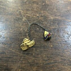 Wwii Armored Division - Tank Home Front Sweetheart Pins
