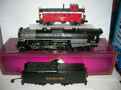 Mth 20-3032-1 And 20-91046 Nkp Berkshire 2-8-4 Ps1 And Caboose Lot 21250