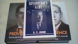 H. P. Lovecraft A Life I Am Providence S. T. Joshi Signed Hippocampus Press Rare