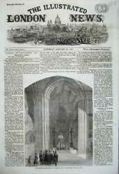 Old Antique Print 1860 Principal Entrance St Stephenand039s Hall Westminster 19th