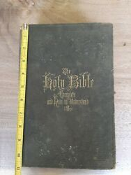 Antique 1869 The Holy Bible Complete And How To Understand It Nice History
