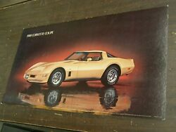Oem Chevrolet 1980 Corvette Coupe Dealership Display Picture Cardboard Chevy