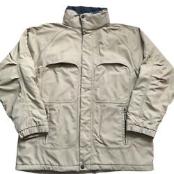 American Eagle Outfitters Field Jacket Mens Xl Khaki Beige Vented Multi Pockets