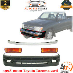 Front Bumper Chrome Trim And Lower Cover And Signal Light For 1998-2000 Tacoma