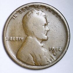 1914-d Lincoln Wheat Small Cent Choice Vg Free Shipping E153 Tchm