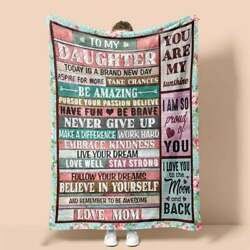 Personalized To My Daughter Remember To Be Awesome Vintage Signs Blanket