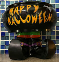 Talking Witch Candy Dish Cauldron Motion Activated Gemmy