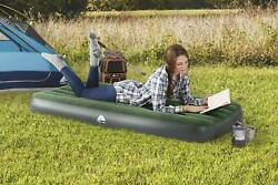 10 Air Bed Mattress W/ Built-in Pump Twin Inflatable Outdoor Camping Airbed New