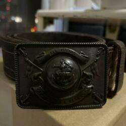 Rrl Double Rl 100 Leather Belt Anchor All Hands Logo Brown Menand039s 36 From Japan