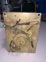 Antique 8 Day Grandfather Or Tall Case Clock Movement Parts