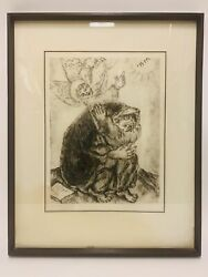 Marc Chagall Ltd Isaiah's Prayer From The Bible Signed And Numbered 85/395