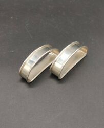 2 Wallace Sterling Childand039s Napkin Ring 216 Mid-century Modern Silver