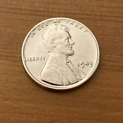 1943 Lincoln Wheat 1c Steel Penny Not Minted