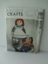 Vintage Raggedy Ann Andy Mccalls Crafts Pattern 8378 Doll And Clothes Uncut New
