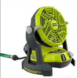 Ryobi One+ 18v Portable Bucket Top Misting Mister Fan Tool Only Pmf01b