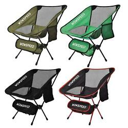 Ultralight Portable Folding Backpacking Camping Chair with 2 Storage Bags $28.99
