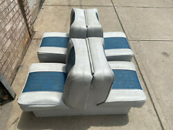 Used Universal Back To Back Boat Seats Easy Folding Seats Deck With Base
