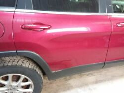14 Cherokee Passenger Rear Side Door Privacy Tinted Glass Red 2787602