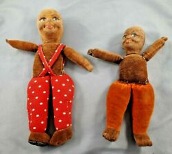 Two 1930and039s Norah Wellings Darked Skin Dolls
