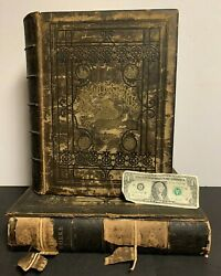 1860's The Works Of Shakspere Shakespere Vol I And Ii Large Leather Books 25 Lb