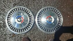 1963 63 Ford Fairlane Hubcaps Wheel Covers Center Caps 13 Inch Set Of 2