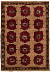 Hand-knotted Carpet 6and0398 X 9and0394 Traditional Vintage Wool Rug