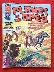 Planet Of The Apes Vintage Magazine March No. 6 Issue Stan Lee Retro 1975 A1